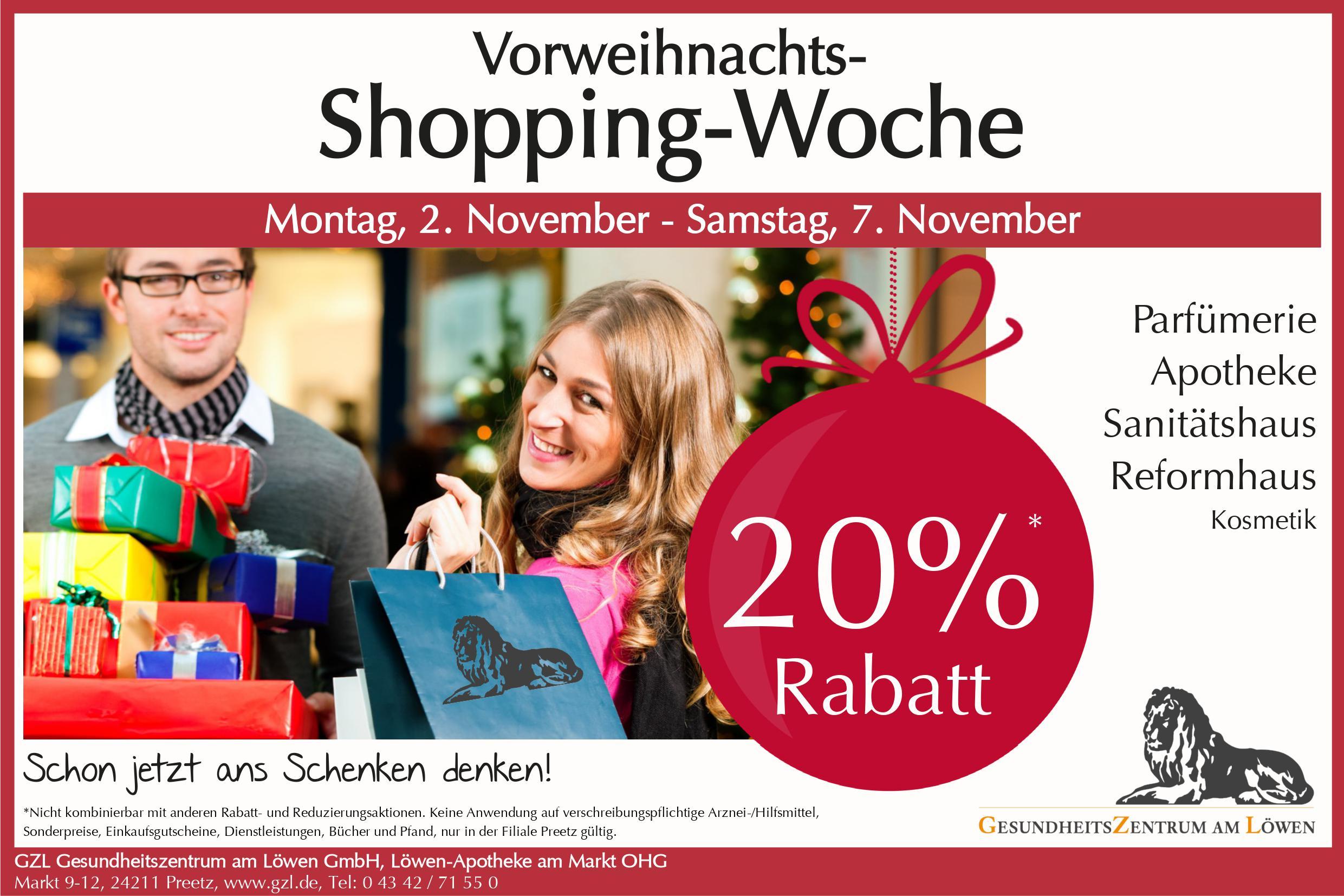 Vorweihnachts-Shopping-Woche 2020